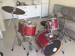 Drum Kit - Mapex Mars Pro Series Red Lugarno Hurstville Area Preview