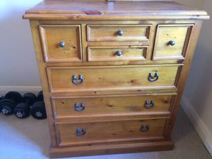 Traditional style 7 drawer solid pine Tallboy