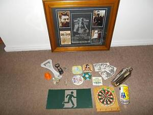 MAN CAVE BULK LOT ITEMS NED KELLY FRAME COASTERS,OPENERS Campbelltown Campbelltown Area Preview