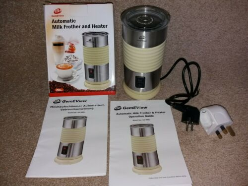 GemEView - Electric, Automatic Milk Frother and Heater - Latte Cappuccino Maker