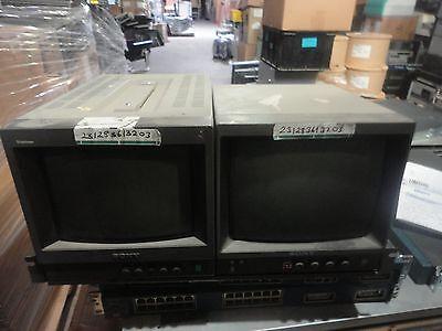 "SONY PVM-8040 8"" Portable COLOR & Sony PVM-97 9"" Black &  White Video Monitor"