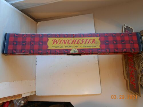 1966 WINCHESTER MODEL 94 30-30 CARDBOARD BOX with HANG TAG & WARRANTY CARD