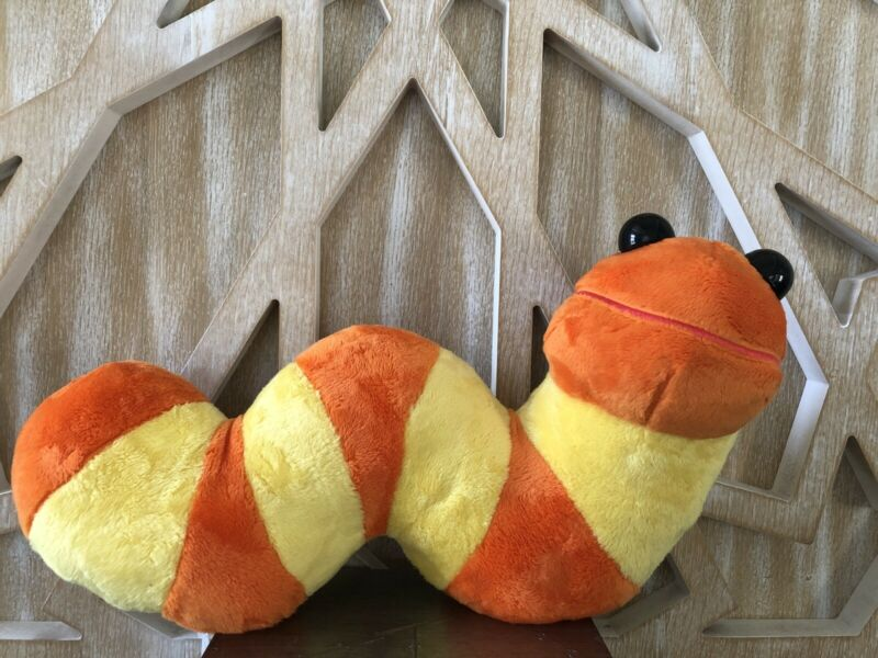 """Sesame Street Slimey the Worm Plush New With Tags - Extremely Rare 16"""" Long"""