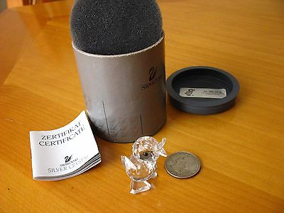 Retired Swarovski Crystal Mini Drake standing duck figurine 7660 NR 040 with box