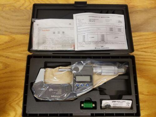 """MITUTOYO 293-345-30 1-2"""" IP65 .0005"""" GRAD DIGITAL MICROMETER"""