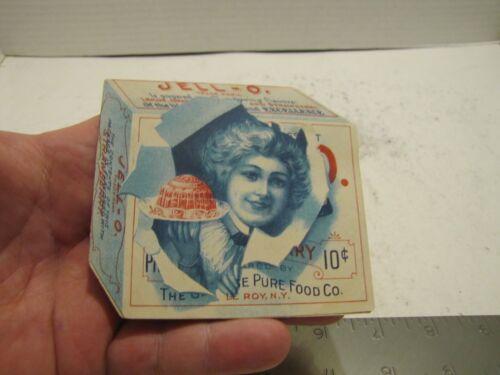 VINTAGE JELL-O ADVERTISING FOLD OUT MULTI COLORED FOOD AD EPHEMERA CIRCA 1900