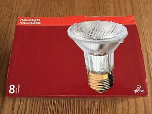 Globe Par20 Halogen 50W 8 pack Flood Lights - Brand New