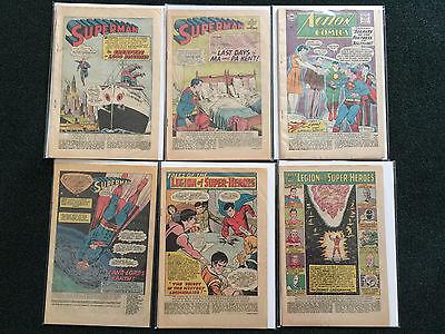 Lot of 6 Coverless Superman Comic Books