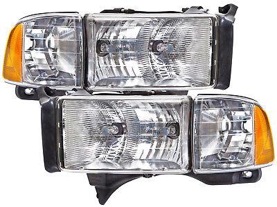 Headlights Pair Set Fits 99-01 Dodge Ram Sport Pickup 1500 2500 3500