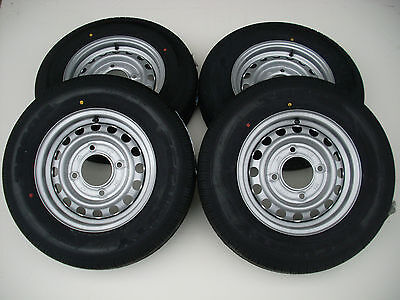 """4 X 165 R13 C 8PLY 4 STUD 5.5"""" PCD TRAILER WHEELS AND TYRES/IFOR WILLIAMS/WESSEX"""