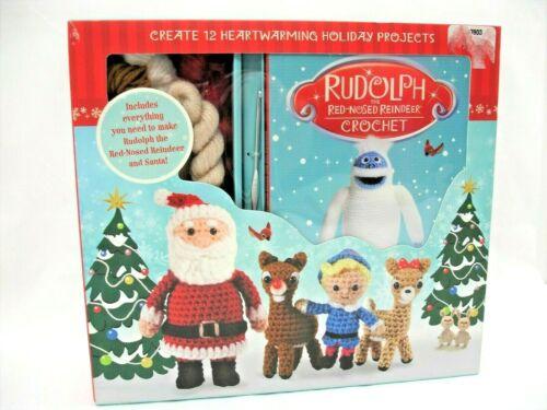 Rudolph the Red Nosed Reindeer & Santa Crochet Kit, Thunder Bay, New in Box