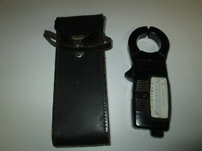 Vintage General Electric Clamp Voltammeter Volts Amperes With Leather Case