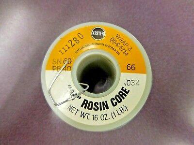 Kester 44 Rosin Qqs-571-e Core Solder Sn60 Pb40 Diameter- .032 1lb. Spool