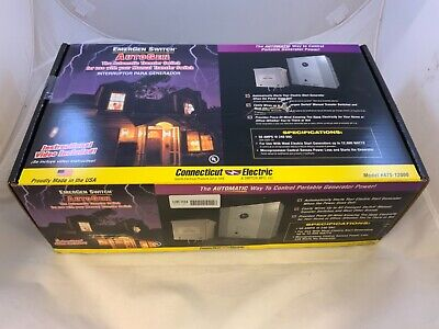 Connecticut Electric Emergen 50a 240v Automatic Transfer Switch Ats-12000