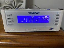 Sangean RCR-22 AM-FM-AUX Atomic Clock FM-AM Radio w/ Radio Controlled Signal