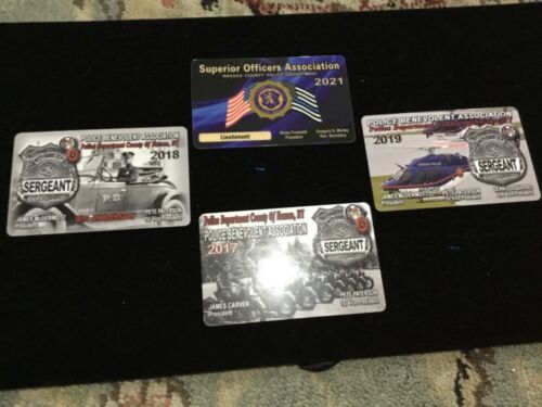2021 NASSAU COUNTY POLICE SOA Lieutenant card plus bonus cards.