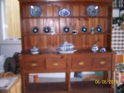Antique Timber Lounge Or Dining Room Dresser