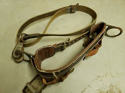 Vintage Buckingham Bell Systems Pole Tree Climbing Belt Set - Lineman