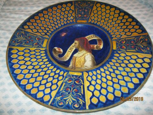 18TH/19TH CENTURY ITALIAN MAJOLICA HAND PAINTED SIGNED CHARGER