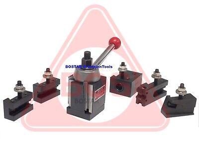 BOSTAR AXA Size 250-111 Wedge Type Tool Post Tool Holders Set for Lathe 6-12