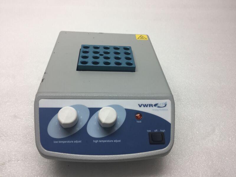 VWR Analog One Block 20 Spots Heater 120V,110W, 50A  949310 P/N: 12621-104 AS-IS