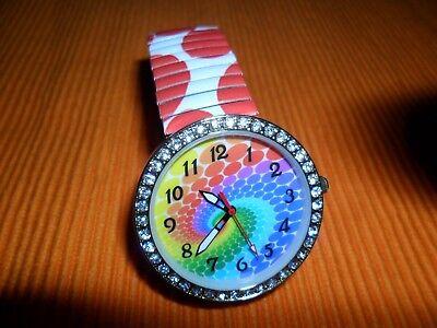 """Chrystal blue Uhr """"REGENBOGEN"""", für Damen & junge Mädchen"""