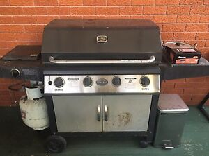 BBQ with side burner, Stainless steel construction Baulkham Hills The Hills District Preview