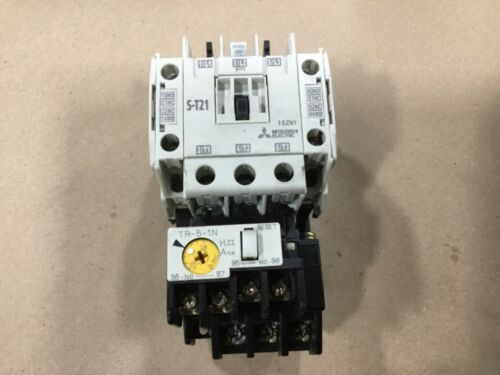 Mitsubishi Electric S-T21 Magnetic Contactor With TR-5-1N Overload Relay #53A35