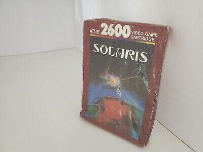 Solaris Juego Original Nuevo Precintado Con Aplastado Caja Para Atari 2600 USA