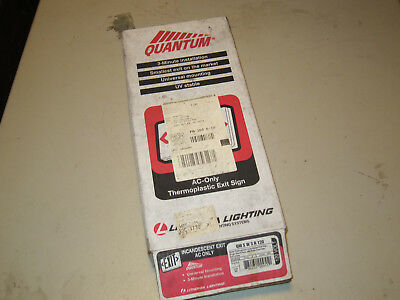 Lithonia Quantum Exit Sign Incandescent AC Only, Free shipping! (Ac Only Exit Sign)