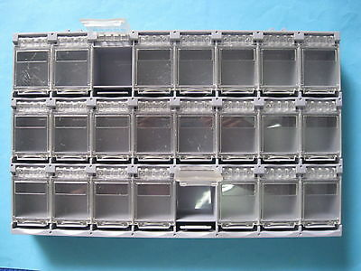 1 Pcs Smt Electronic Component Mini Storage Box 24 Lattice Blocks Gray T-157 New