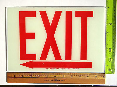 Exit Sign Replacement Glass Sz. 12 X 8 Left Arrow