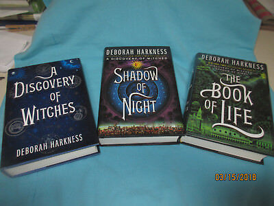 ALL SOULS TRILOGY SET - SIGNED/NOTED/1ST-HB-DISCOVERY OF WITCHES - PHOTO - MOVIE