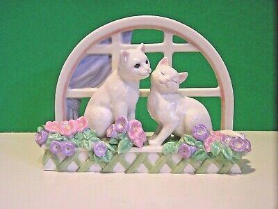 - LENOX LOVE IN BLOOM CAT Kitten window sculpture NEW in Box with COA Kitty