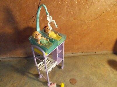 MATTEL BARBIE BABY DOCTOR 2 NEWBORNS CRADLES HOSPITAL FURNITURE ACCESSORIES A11 A Baby Newborn Cradle