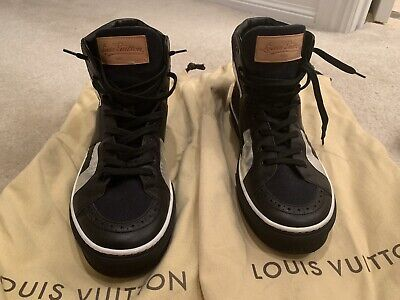 AUTH LOUIS VUITTON MENS SHOES SNEAKERS MONOGRAM US SIZE 9 MADE IN ITALY