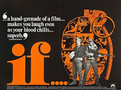 """IF 1968 16"""" x 12"""" Reproduction Movie Poster Photograph"""