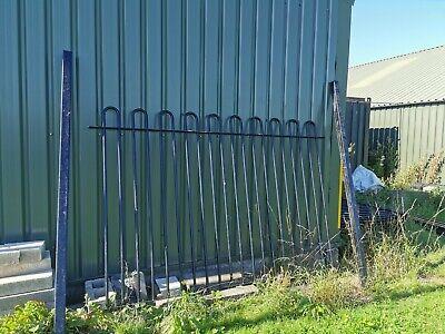 Bow top railings black galv. 1720*2660mm