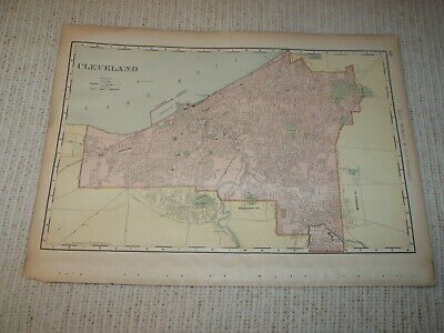 1924 RADIO STATION MAP Canton Cambridge Youngstown Wooster Dover Cleveland OH XL
