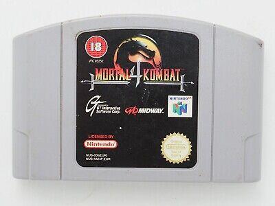 Mortal Kombat 4 for Nintendo 64 N64 PAL *100% GENUINE* CART ONLY