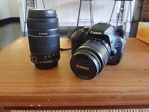 Canon 600D w/ 2 lens and carry bag Latham Belconnen Area Preview