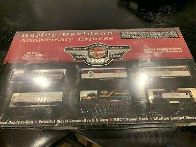 1998 Harley Davidson Motorcycle Collector's Edition Train Set HO NIB Christmas