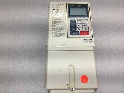 Used Yaskawa Varispeed F7 380468vac 6.4amp 3ph 0-400hz Drive Cimr-f7u42p2