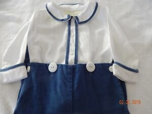 EUC Boutique Pixie Lily Boys 12 Months Classic Heirloom EASTER Lightweight Cordu