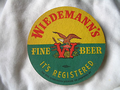 WIEDEMANN'S BEER YELLOW/GREEN NEWPORT KY COASTER