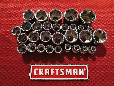 Craftsman   3 8  Drive 6 Point Sockets   Metric And Sae   Choose Size   New