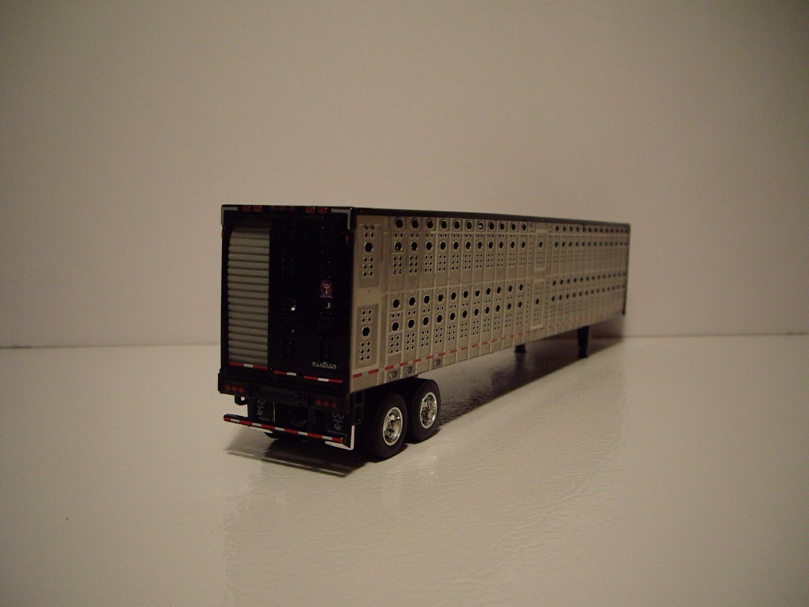 DCP FIRST GEAR 1/64 BLACK AND SILVER PSAL TANDEM AXLE LIVESTOCK  2