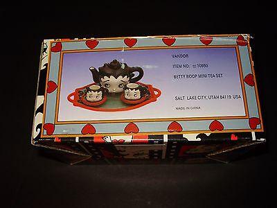 Betty Boop 7 Piece Mini Tea Set Sculpted Faces Vander Company Item #10950
