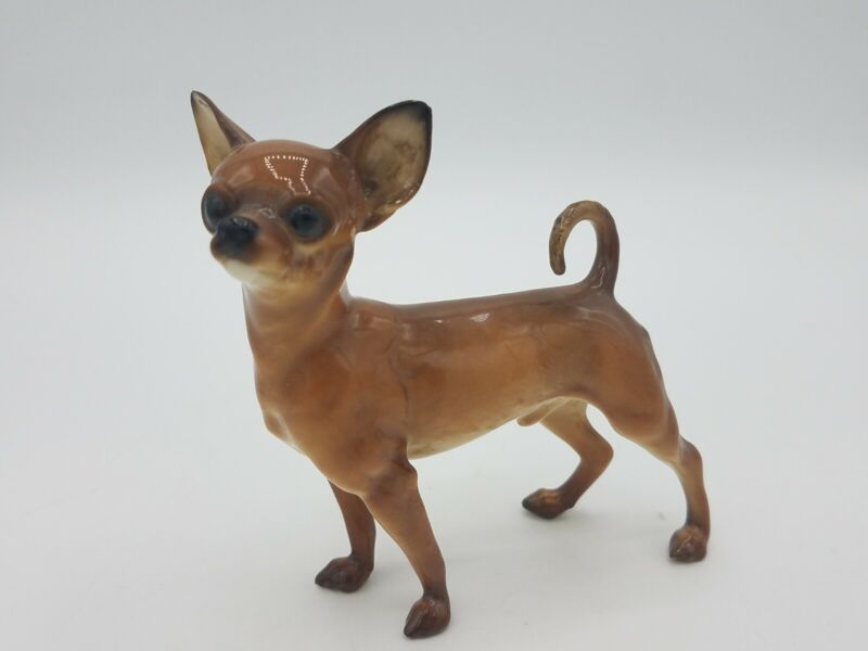 """Hutschenreuther Chihuahua Dog Figure 4"""" tall Vintage Rare"""