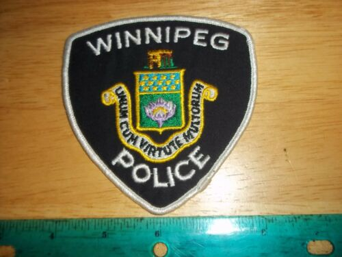 WINNIPEG POLICE PATCH Enforcement Officer Manitoba Canada Security Guard Law Cop